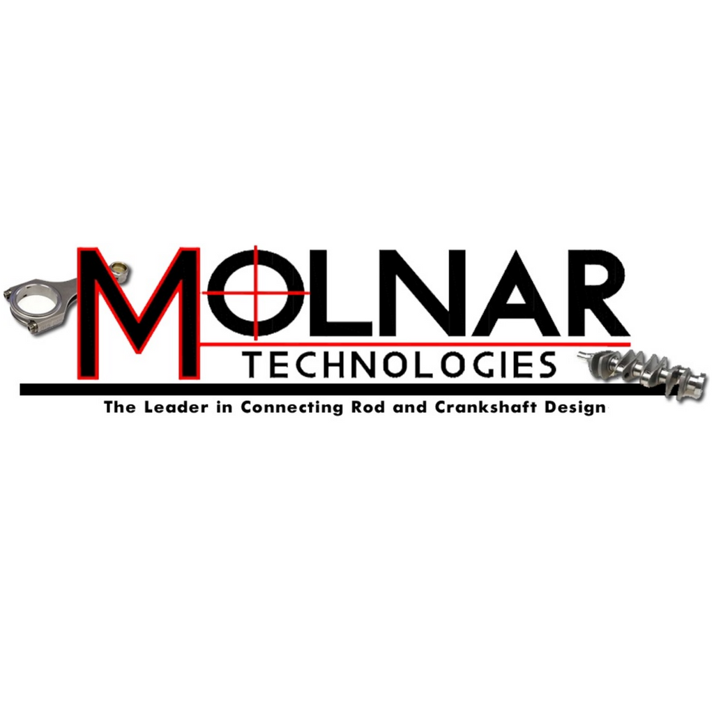 "Molnar Technologies PWR ADR Plus; BBC; 6.385"" Length; 0.990"" Pin; H-Beam; 4340 Steel; Connecting Rods CH6385VTB-P+8-A"