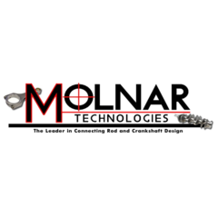 "Molnar Technologies; BBC; 4.750"" Stroke; 2.750"" Main; 2.200"" Rod Journal; 8 Counterweight; 4340 Steel; Crankshaft 454-4750DC8F"