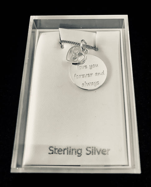 Sterling Silver Necklace ' LoVe you Forever and Always '
