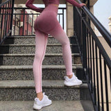 Women Sports Gym Yoga Pants Compression Tights OMBRE Seamless Pants Stretchy High Waist Run Fitness Leggings Hip Push Up-DooMahickeys