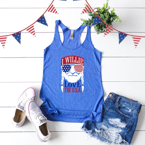 I Willie Love the USA Tank