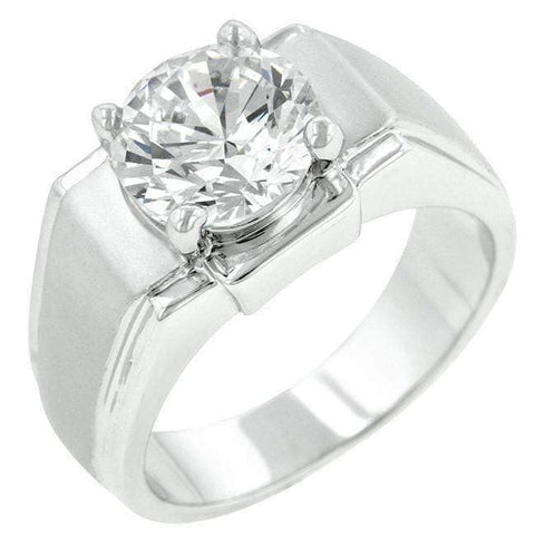 Regal Mens Cubic Zirconia Ring-DooMahickeys