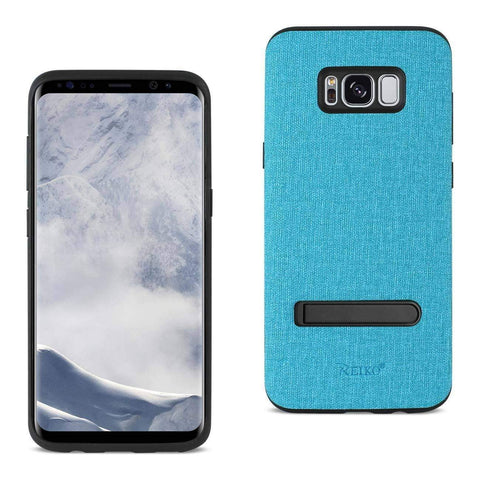 REIKO SAMSUNG GALAXY S8 EDGE/ S8 PLUS DENIM TEXTURE TPU PROTECTOR COVER IN BLUE-DooMahickeys