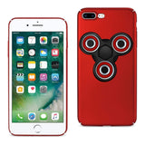 Reiko iPhone 8 Plus/ 7 Plus Case With Led Fidget Spinner Clip On In Red-DooMahickeys