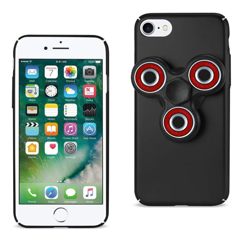 Reiko iPhone 8/ 7 Case With Led Fidget Spinner Clip On In Black-DooMahickeys