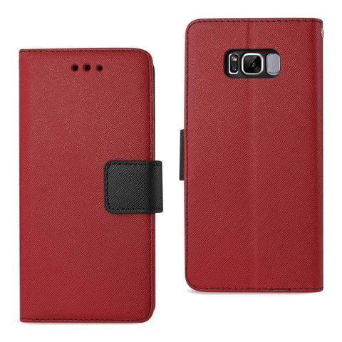 REIKO SAMSUNG GALAXY S8 3-IN-1 WALLET CASE IN RED-DooMahickeys