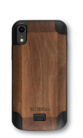 Wooden iPhone Xr Battery Charging Case-DooMahickeys