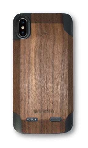 Wooden iPhone Xs Max Battery Charging Case-DooMahickeys
