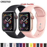 Sport strap For Apple Watch band 4 42mm 44mm iwatch 3 38mm/40mm Silicone correa pulseira wrist Bracelet belt series 2/1-DooMahickeys