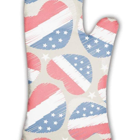 Oven Mitt, Pattern For 4th Of July American Independence Day-DooMahickeys