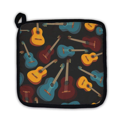 Potholder, Pattern Isolated Guitars-DooMahickeys