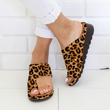 Women PU Leather Shoes Comfy Platform Flat Sole Ladies Casual Soft Big Toe Foot Correction Sandal Shopping Flat Sole Sandal