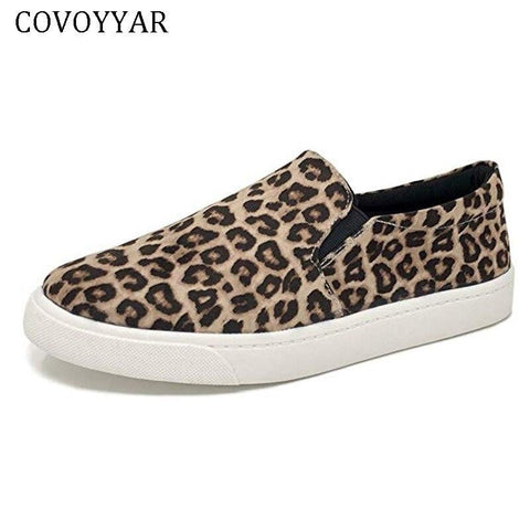 COVOYYAR 2019 Leopard Fashion Women Sneakers Flat Shoes Woman Snake Print Casual Shoes Spring Summer Loafers Slip on 43 WSN280-DooMahickeys-DooMahickeys