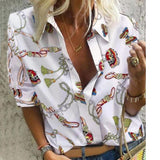 Pineapple Blouse Women's Shirt Ananas White Long Sleeve Blouses Woman 2019 Womens Tops and Blouse Elegant Top Female Autumn New-DooMahickeys-Gold-S-DooMahickeys