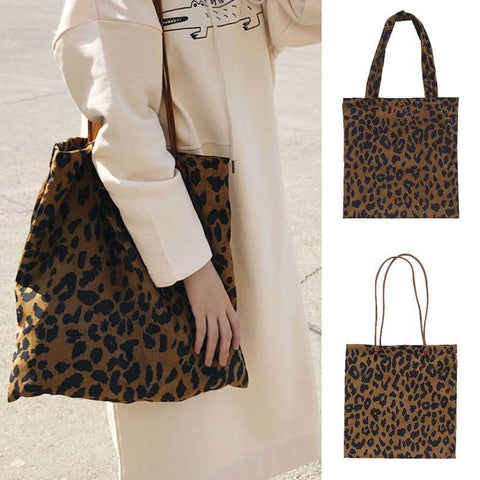 Leopard Pattern Shoulder Bag-Leopard Collection-DooMahickeys-Chocolate-DooMahickeys