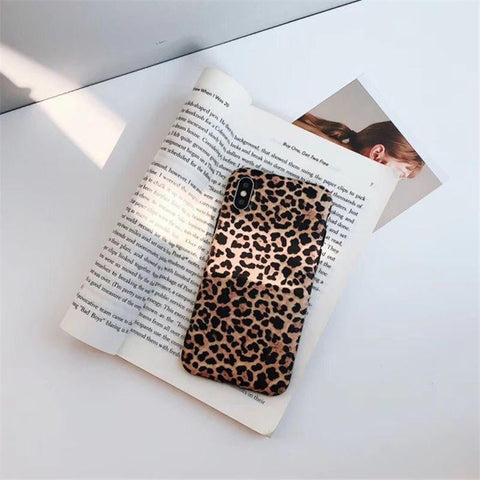 Sexy Leopard Prain TPU Silicone Case Cover Skin For iPhone 6 6s 7 8 Plus Matte Soft Cases For X XR XS MAX For iPhone 11 Pro Max-DooMahickeys-ABS-Beige-DooMahickeys
