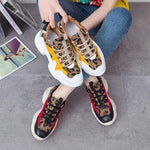 Kjstyrka 2019 new leopard mixed colors plush Fashion high quality women sneakers winter tenis feminino ladies wedges espadrilles-DooMahickeys-DooMahickeys