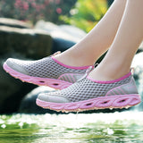 PINSEN 2020 Summer Casual Shoes Woman Slip-On Platform Flats Female Breathable Zapatillas Slipony Women Shoes Zapatillas Mujer