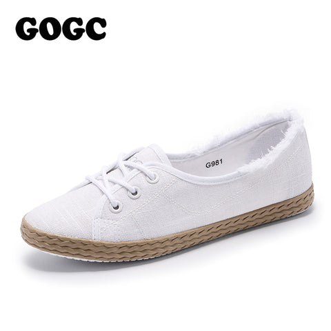 GOGC Brand  Women espadrilles Summer Shoes Woman Flat Soft Design Shoes Women Slip on Shoes Ladies Footwear Women Sneakers G981