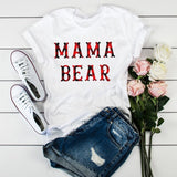 Women Mama Mom Leopard Letter Print Mother Clothing Tees Tops Graphic Female Ladies Womens Lady T-Shirt  Tumblr T Shirt T-shirts