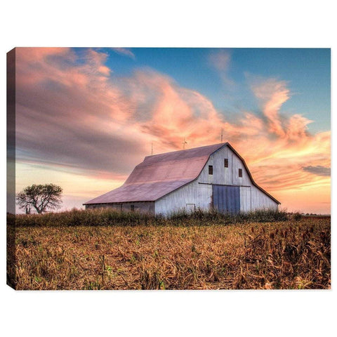 Sunset on Oklahoma Farm on Canvas-DooMahickeys