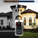 Smart Wireless WiFi Security DoorBell Visual Recording Consumption Remote Home Monitoring Night Vision Smart Video Door Phone-DooMahickeys