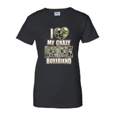 "Juniors Funny Cute ""I Love My Crazy REDNECK-Clothing-DooMahickeys"