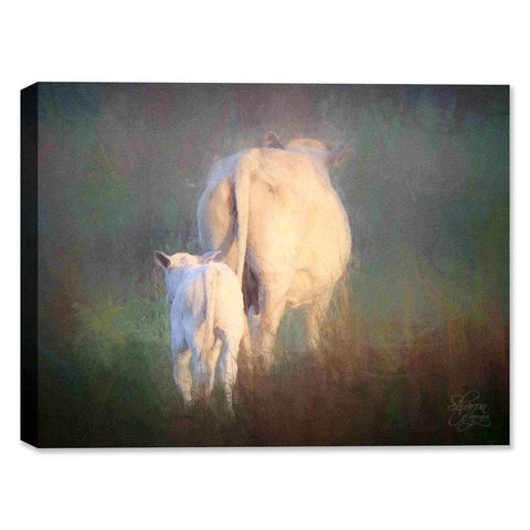 Cow and Calf - Canvas Art-DooMahickeys