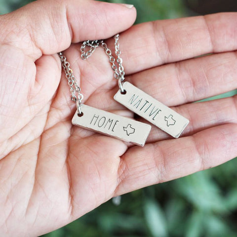 State Charm Necklace