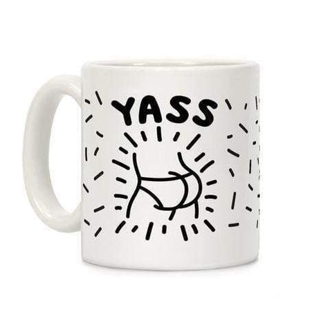 Yass Ceramic Coffee Mug by LookHUMAN-Goofy Must Haves-DooMahickeys