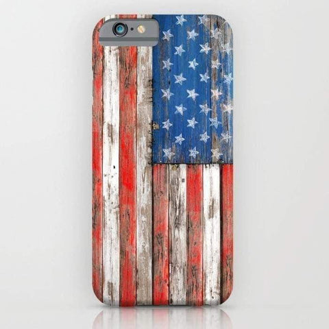 USA Vintage Wood Mobile Cover-Tech Accessories-DooMahickeys