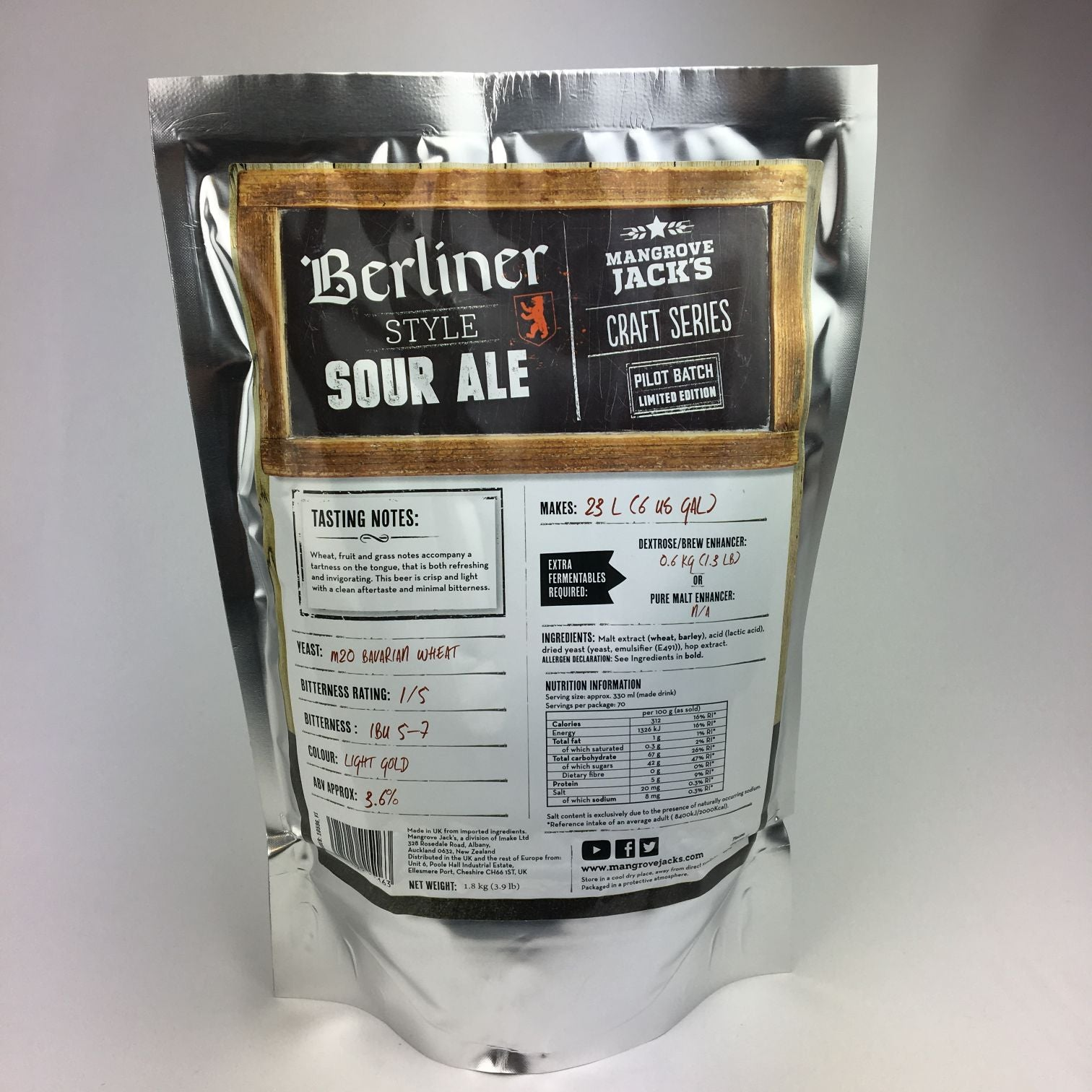 Mangrove Jacks Berliner Sour Ale Refill Kit