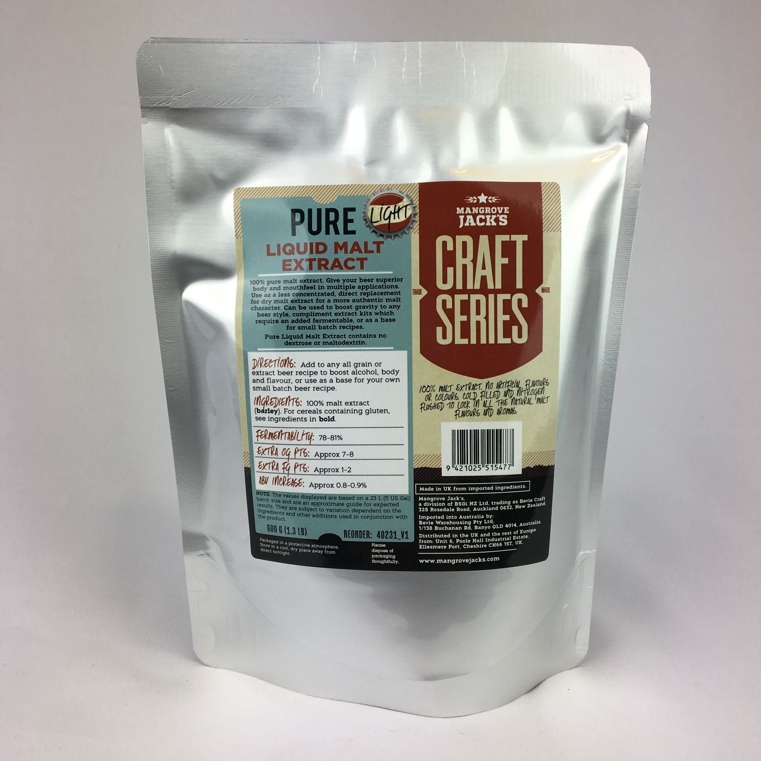 Mangrove Jacks Pure Liquid Malt Extract 600G