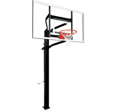 "Extreme Series 72"" In Ground Basketball Hoop - Glass Backboard"