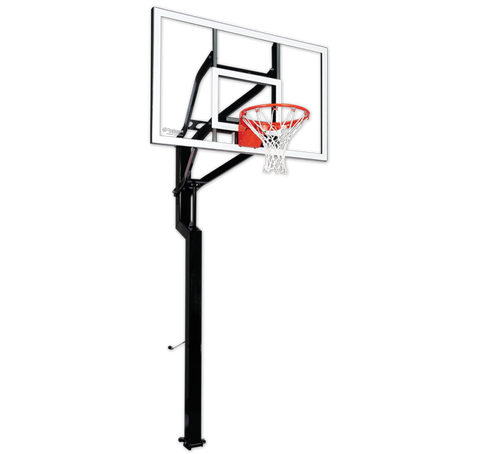 "Goalsetter All American 60"" In Ground Basketball Hoop - Glass Backboard"