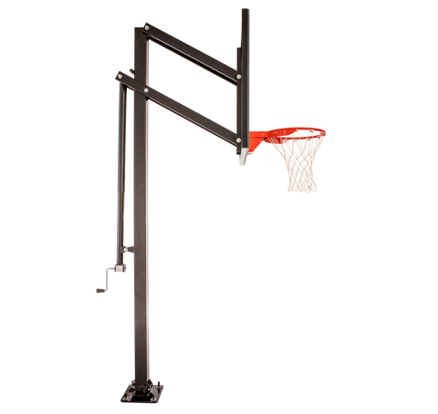 "Extreme Series 60"" Adjustable In Ground Basketball Hoop - Glass Backboard"