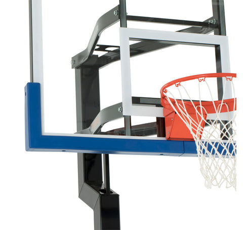 "All-Star 54"" Goalsetter In Ground Basketball Hoop - Glass Backboard"