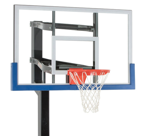 "Contender 54"" Goalsetter In Ground Basketball Hoop - Glass Backboard"