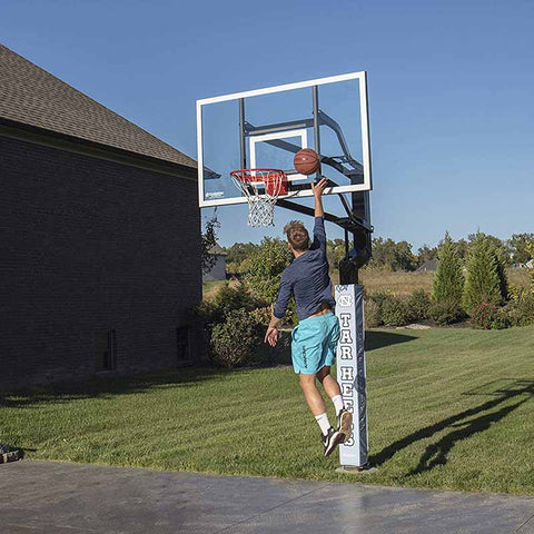 "Goalsetter MVP 72"" In Ground Basketball Hoop - Glass Backboard"