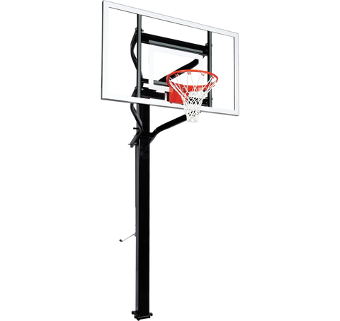 "Extreme Series 60"" In Ground Basketball Hoop - Glass Backboard"