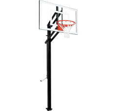 "Extreme Series 48"" In Ground Basketball Hoop - Glass Backboard"