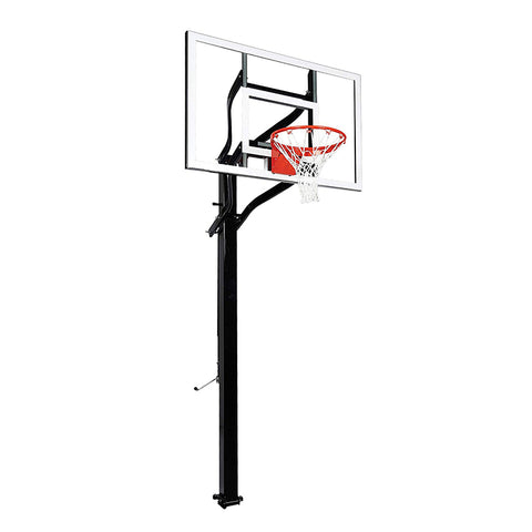 "Extreme Series 54"" In Ground Basketball Hoop - Glass Backboard"