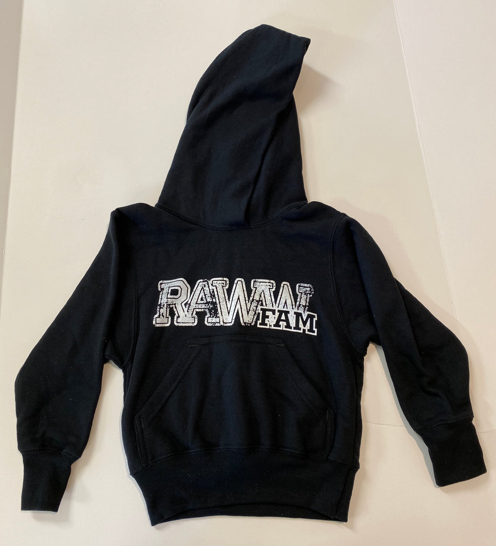 RawwFam Adult Distress Black Hoodie