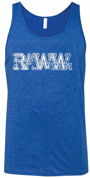 RawwFamm Adult Triblend Blue Tank Top