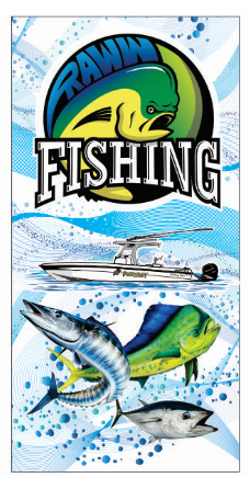 RawwFishing Beach Towel 30x60