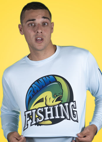 RawwFishing Long Sleeve Dry-Fit Blue