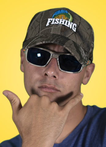 RawwFishing Camo Adult Hat