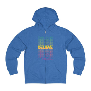 Believe in The Unseen: Unisex French Terry Zip Hoodie
