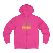 Load image into Gallery viewer, Believe in The Unseen: Unisex French Terry Zip Hoodie