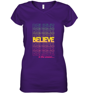Believe: Women's Short Sleeve Jersey V-neck